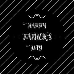 happy fathers day chalkboard flat style on black background
