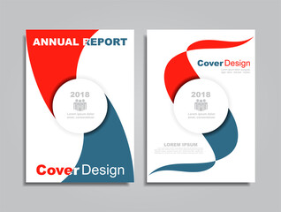 Design brochure layout with place for your data. Vector.