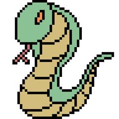 vector pixel art snake