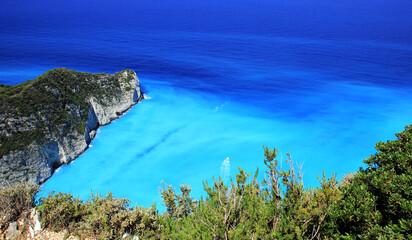 Blue lagoon of Navagio Beach