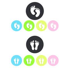 foot print logo, icon
