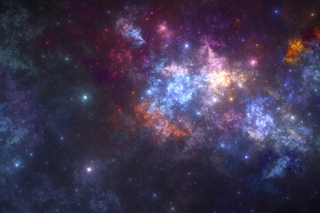 Abstract stars background, fantasy universe