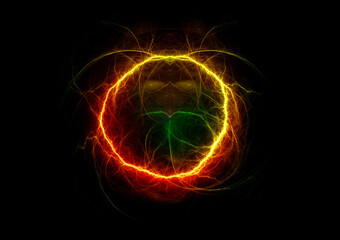 Colorful abstract circle lightning background