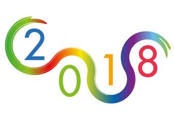 2018 - année, présentation - carte de voeux - objectif - entreprise