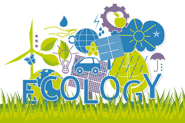 vector concept of eco-friendly world