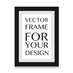picture frame design vector for image or text.