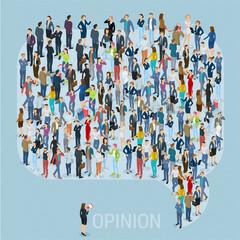 Public opinion vector template
