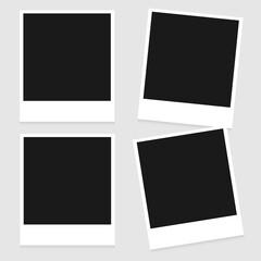 Set of Vintage Photo Frame Isolated on White Background. Retro Photorealistic Photo Frame Set