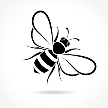 bee icon on white background
