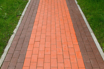 walking path, the pavement of clinker brick