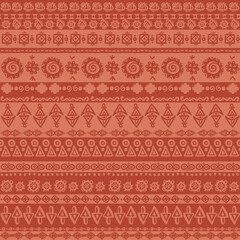 Ethnic vintage stripes - vector ornament, seamless vector pattern. Ethnic striped background.