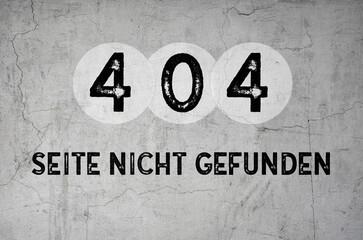 Seite nicht gefunden - 404