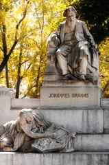 Vienna, monument in memory of the music composer Johannes Brahms in Karlsplatz