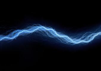 Blue lightning in the dark