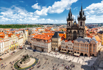 Tuinposter Praag Old Town Square in Prague