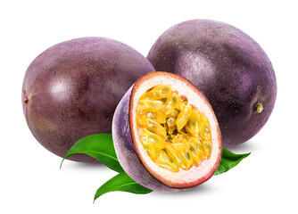 Poster Vruchten Passion fruit isolated on white
