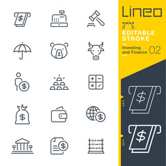 Lineo Editable Stroke - Investing and Finance line icons