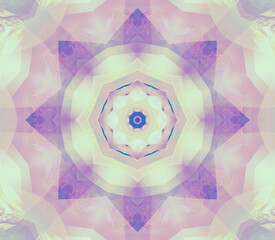Abstract kaleidoscope colored background. Beautiful illustration. Seamless pattern.