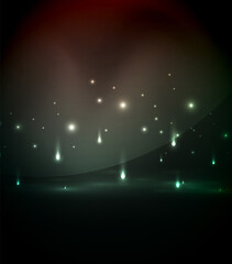 Falling lights in darkness