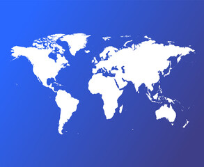 Fotomurales - Vector World Map on blue background. Very High detail illustration.