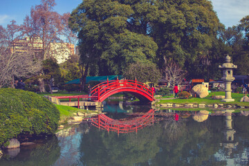 Bridge in the Japanese Garden in Buenos Aires.