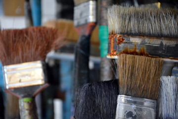 Painter's old brushes