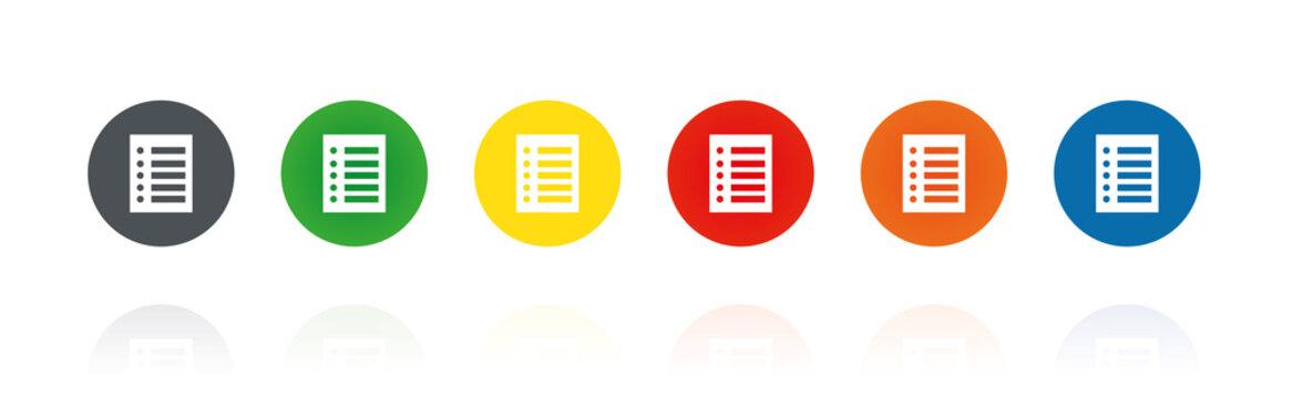 Liste - Farbige Buttons