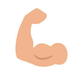 Flexing bicep muscle strength or arm workout flat vector color icon for exercise apps and websites - fototapety na wymiar
