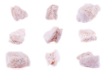 Collection of stone mineral Amphibolite in quartz