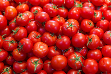 Group of fresh tomatoes as a background