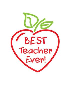 Best teacher ever! apple heart