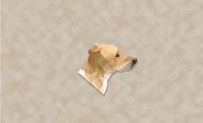 rostro de perro low poly