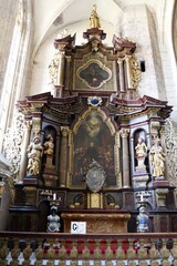 Interior of St. Barbara's  Church, Kutna Hora, Czech Republic. UNESCO World Heritage Site.