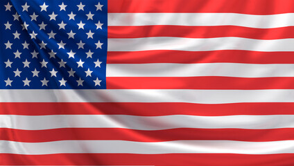 flag of United states of america 3d rendering