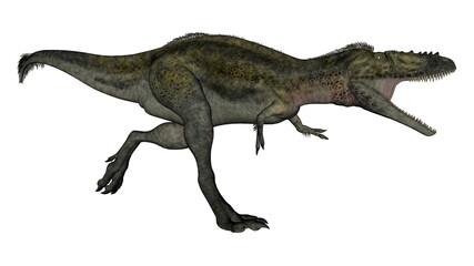 Alioramus dinosaur running - 3D render