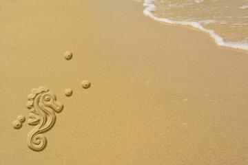 Sand sea horse