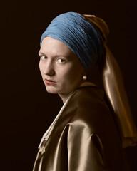 Das Mädchen mit dem Perlenohrgehänge, nach Vermeer um 1665