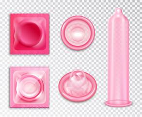 Condom Realistic Set