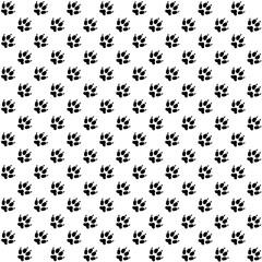 Pattern from animal footprint