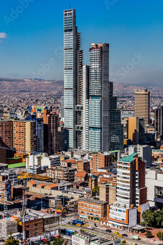 Wall mural Bogota Skyline cityscape in Bogota capital city of Colombia South America