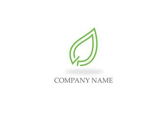 green leaf organic line logo