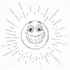 Symbol of Happiness - Happy Smiley face Icon Concept -  Vector Illustration