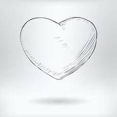 Symbol of Love - Valentine Heart Icon Concept -  Vector Illustration