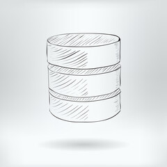 Symbol of Big Data Server   - Database Icon Concept -  Vector Illustration