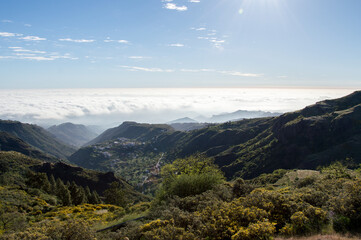 Hiking in idyllic nature of Gran Canaria, Spain