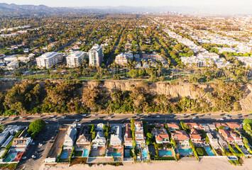 Aerial view of Santa Monica, CA