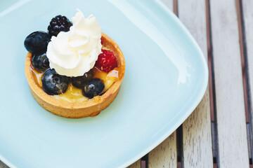 Fruit tart dessert and dish