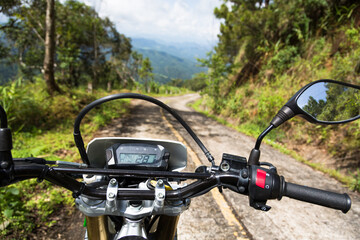 Motorcycle riding in north Thailand near Mae Hong Son