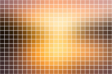 Yellow coral pink black square mosaic background over white