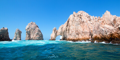 Poster Mexico El Arco (the Arch) at Lands End at Cabo San Lucas Baja Mexico BCS